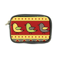 Brown Bird Pattern Coin Purse by Valentinaart