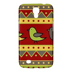 Brown Bird Pattern Samsung Galaxy Mega 6 3  I9200 Hardshell Case by Valentinaart