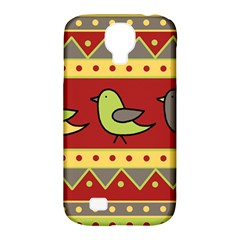 Brown Bird Pattern Samsung Galaxy S4 Classic Hardshell Case (pc+silicone) by Valentinaart