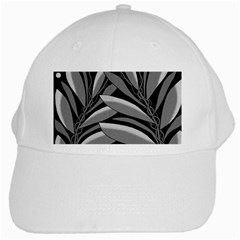 Gray Plant Design White Cap by Valentinaart