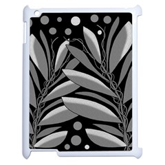 Gray Plant Design Apple Ipad 2 Case (white) by Valentinaart