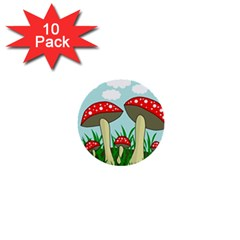 Mushrooms  1  Mini Buttons (10 Pack)  by Valentinaart