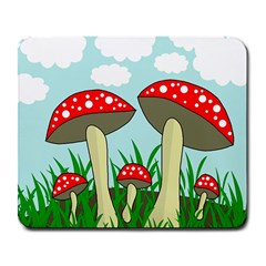 Mushrooms  Large Mousepads by Valentinaart