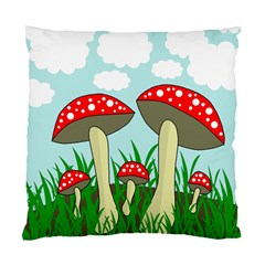 Mushrooms  Standard Cushion Case (two Sides) by Valentinaart