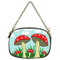 Mushrooms  Chain Purses (two Sides)  by Valentinaart