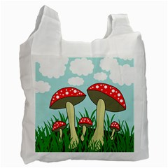 Mushrooms  Recycle Bag (two Side)  by Valentinaart