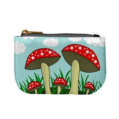 Mushrooms  Mini Coin Purses by Valentinaart