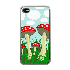 Mushrooms  Apple Iphone 4 Case (clear) by Valentinaart