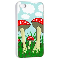 Mushrooms  Apple Iphone 4/4s Seamless Case (white) by Valentinaart