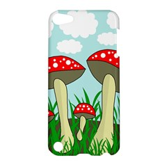 Mushrooms  Apple Ipod Touch 5 Hardshell Case by Valentinaart