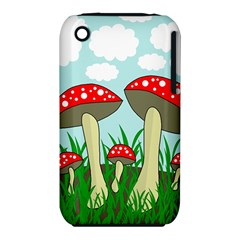 Mushrooms  Apple Iphone 3g/3gs Hardshell Case (pc+silicone) by Valentinaart