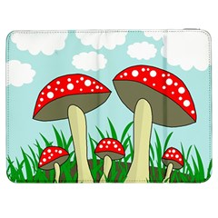 Mushrooms  Samsung Galaxy Tab 7  P1000 Flip Case by Valentinaart