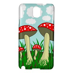 Mushrooms  Samsung Galaxy Note 3 N9005 Hardshell Case by Valentinaart