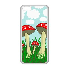 Mushrooms  Apple Iphone 5c Seamless Case (white) by Valentinaart