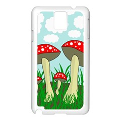 Mushrooms  Samsung Galaxy Note 3 N9005 Case (white) by Valentinaart