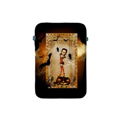 Halloween, Cute Girl With Pumpkin And Spiders Apple Ipad Mini Protective Soft Cases by FantasyWorld7