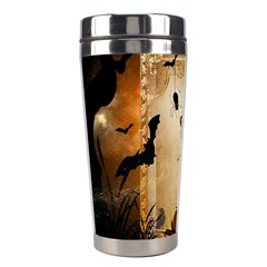 Halloween, Cute Girl With Pumpkin And Spiders Stainless Steel Travel Tumblers by FantasyWorld7