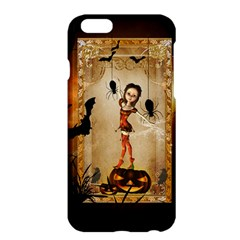 Halloween, Cute Girl With Pumpkin And Spiders Apple Iphone 6 Plus/6s Plus Hardshell Case by FantasyWorld7