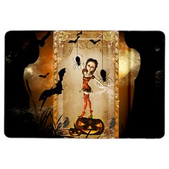 Halloween, Cute Girl With Pumpkin And Spiders Ipad Air 2 Flip by FantasyWorld7