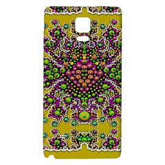 Fantasy Flower Peacock With Some Soul In Popart Galaxy Note 4 Back Case by pepitasart