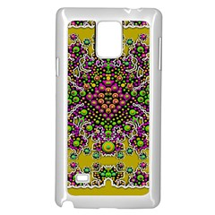 Fantasy Flower Peacock With Some Soul In Popart Samsung Galaxy Note 4 Case (white) by pepitasart