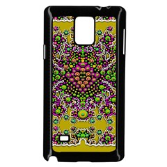 Fantasy Flower Peacock With Some Soul In Popart Samsung Galaxy Note 4 Case (black) by pepitasart