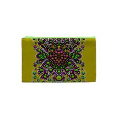 Fantasy Flower Peacock With Some Soul In Popart Cosmetic Bag (xs) by pepitasart