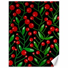 Red Christmas Berries Canvas 12  X 16   by Valentinaart
