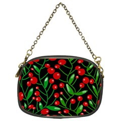 Red Christmas Berries Chain Purses (one Side)  by Valentinaart