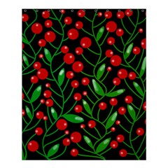 Red Christmas Berries Shower Curtain 60  X 72  (medium)  by Valentinaart