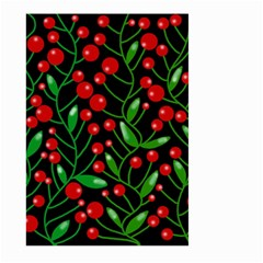 Red Christmas Berries Large Garden Flag (two Sides) by Valentinaart