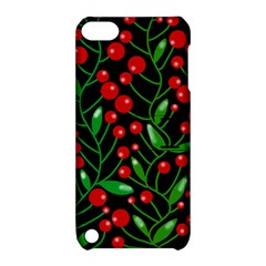 Red Christmas Berries Apple Ipod Touch 5 Hardshell Case With Stand by Valentinaart