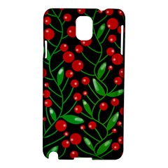Red Christmas Berries Samsung Galaxy Note 3 N9005 Hardshell Case by Valentinaart