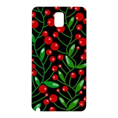 Red Christmas Berries Samsung Galaxy Note 3 N9005 Hardshell Back Case by Valentinaart