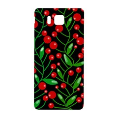 Red Christmas Berries Samsung Galaxy Alpha Hardshell Back Case by Valentinaart