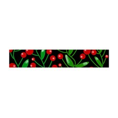 Red Christmas Berries Flano Scarf (mini) by Valentinaart