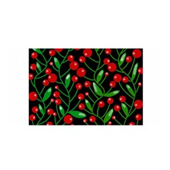 Red Christmas Berries Satin Wrap