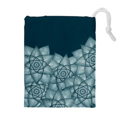 Flower Star Drawstring Pouches (extra Large) by Contest2489503