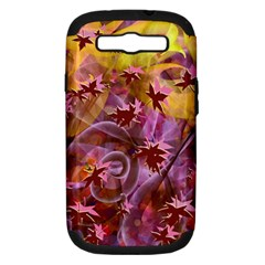Falling Autumn Leaves Samsung Galaxy S Iii Hardshell Case (pc+silicone) by Contest2489503