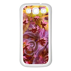 Falling Autumn Leaves Samsung Galaxy S3 Back Case (white) by Contest2489503
