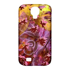 Falling Autumn Leaves Samsung Galaxy S4 Classic Hardshell Case (pc+silicone) by Contest2489503