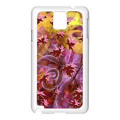 Falling Autumn Leaves Samsung Galaxy Note 3 N9005 Case (white) by Contest2489503