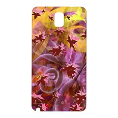 Falling Autumn Leaves Samsung Galaxy Note 3 N9005 Hardshell Back Case by Contest2489503