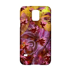 Falling Autumn Leaves Samsung Galaxy S5 Hardshell Case  by Contest2489503