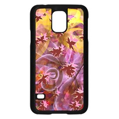 Falling Autumn Leaves Samsung Galaxy S5 Case (black) by Contest2489503