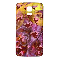 Falling Autumn Leaves Samsung Galaxy S5 Back Case (white) by Contest2489503