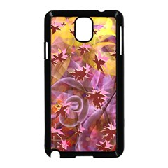 Falling Autumn Leaves Samsung Galaxy Note 3 Neo Hardshell Case (black) by Contest2489503