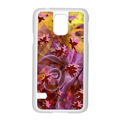 Falling Autumn Leaves Samsung Galaxy S5 Case (white) by Contest2489503