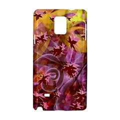 Falling Autumn Leaves Samsung Galaxy Note 4 Hardshell Case by Contest2489503