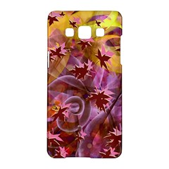 Falling Autumn Leaves Samsung Galaxy A5 Hardshell Case  by Contest2489503